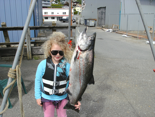 Grace with her derby king salmon 2010