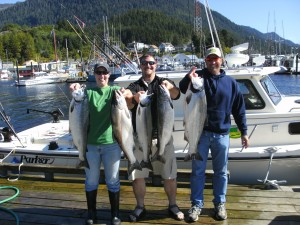 September silver fishing in Ketchikan Alaska