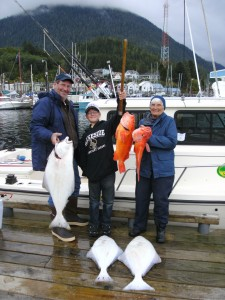 Bottomfishing for Halibut with captain Jim